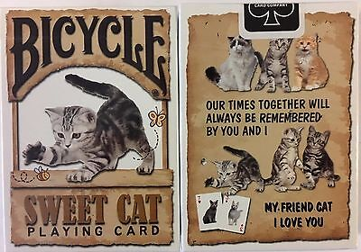 Sweet Cat Bicycle Playing Cards Poker Size Deck USPCC Limited Custom New -