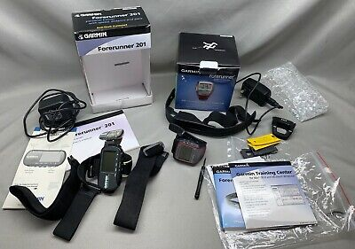 Lot of 2 - Garmin Forerunner 201 and 305 GPS Fitness Activity Tracker Watches