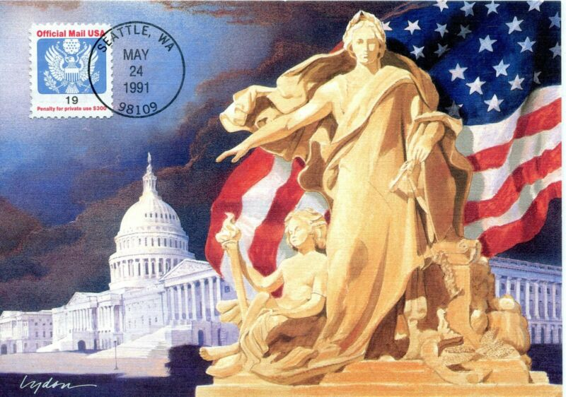 US FDC Fleetwood Maximum Card Scott #0147 19 Cent Official. Free Shipping
