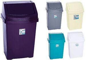 Funky small 15l 15 litre swing lid top waste bin bed bath for Teal bathroom bin