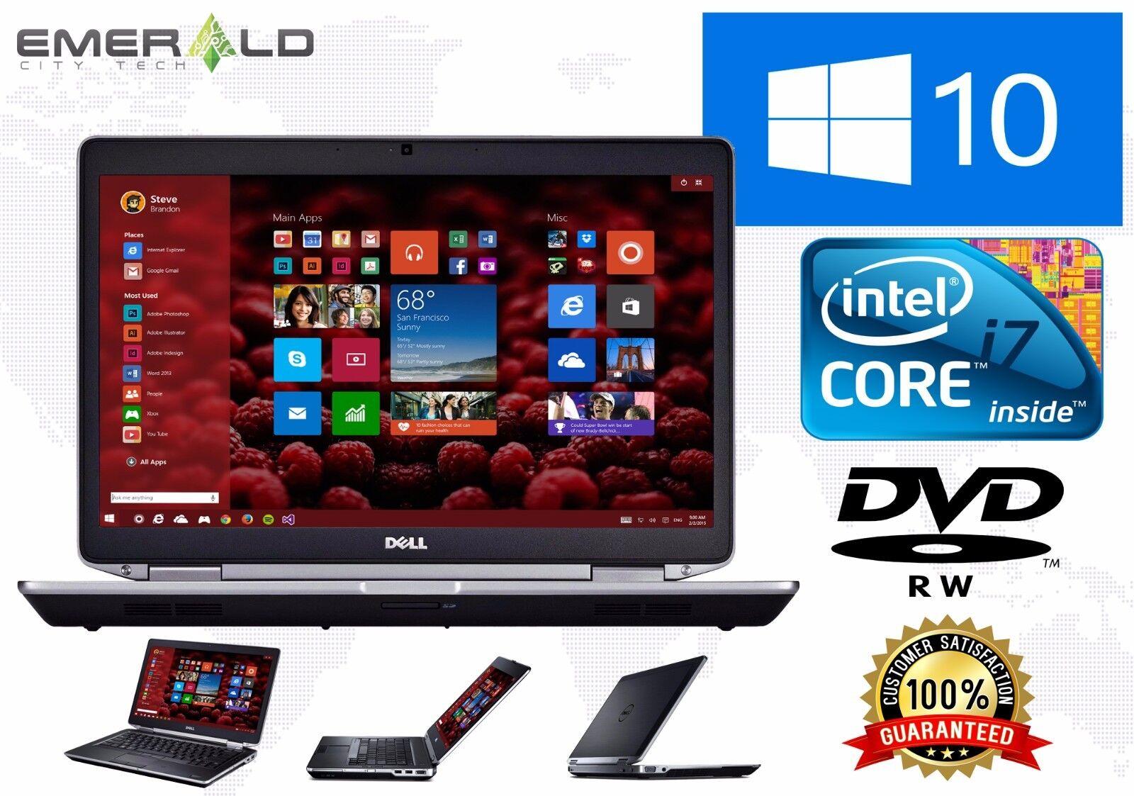 Dell Latitude Laptop E6430 Intel Core i7 Turbo 3rd Gen 8GB 320GB Win 10 Pro WiFi