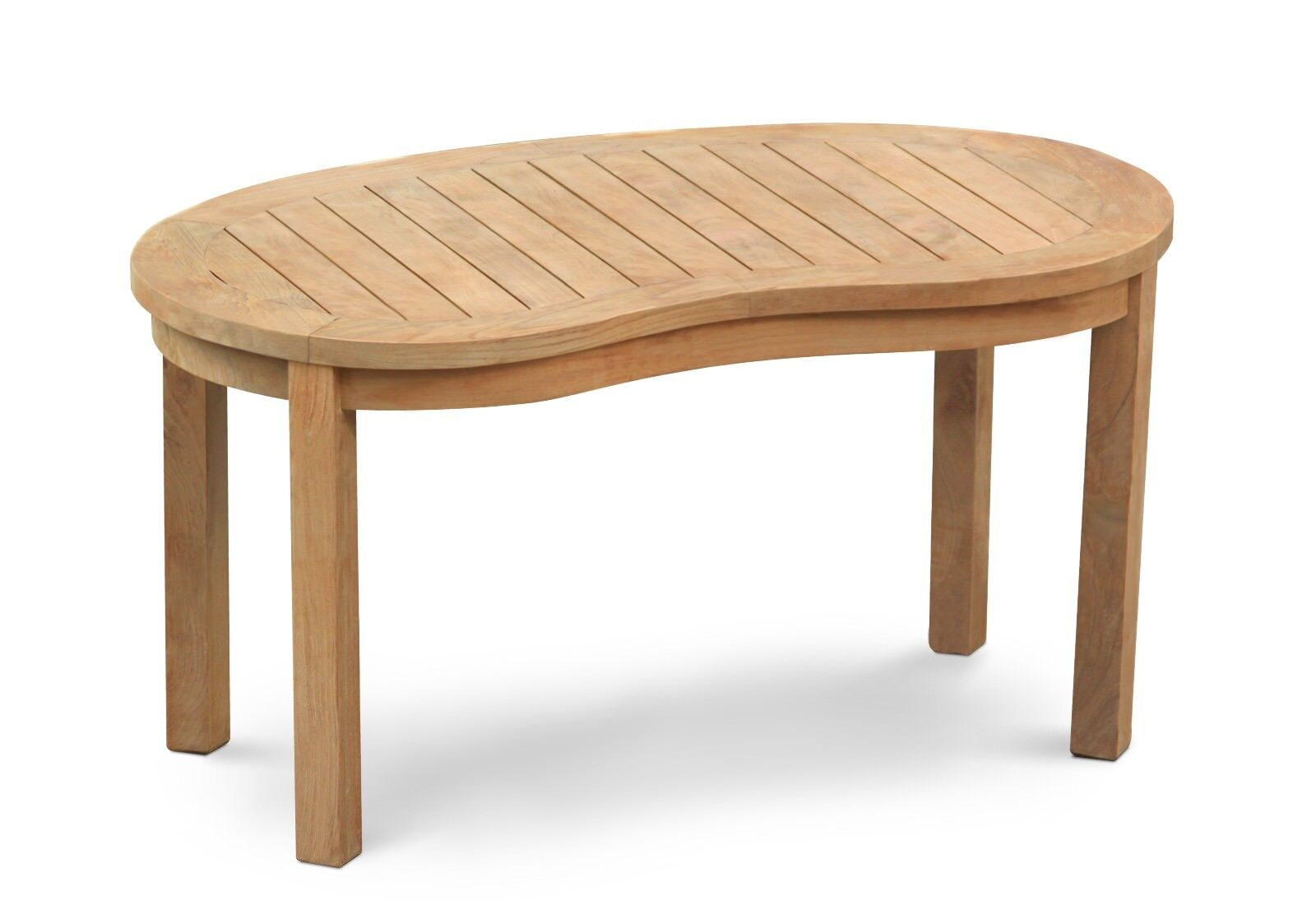 Premium Teak Banana Coffee Table 108 Cm Oval Kidney Shaped Wooden Side