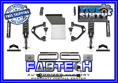 "Fabtech K1107DL 4"" Budget System w/Ball Joint UCA 14-17 GM C/K1500 2WD/4WD-Steel"