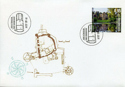 Luxembourg 2018 FDC Beaufort Castle Spectacular Views SEPAC 1v Cover Stamps