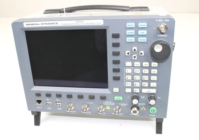 General Dynamics FREEDOM R8000A Communications System Analyzer APX AUTO-TUNE P25