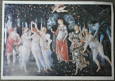 The Spring Botticelli La Primavera Vintage Italian Art Print Printed in Italy