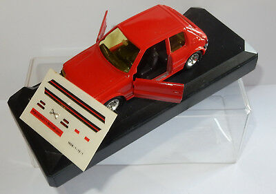 MADE IN FRANCE SOLIDO PEUGEOT 205 GTI ROUGE 1/43 REF 1842 IN BOX DECALQUES