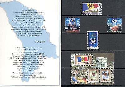 Moldova - Lot of Stamps and Souvenir Sheet 2001-2003 MNH**