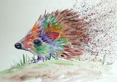 "Fridge Magnet,Colourful Hedgehog  large  4.25"" by 5.5"""