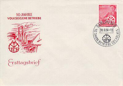 DDR FDC Ersttagsbrief 1956 10 Jahre VEB Mi. 527