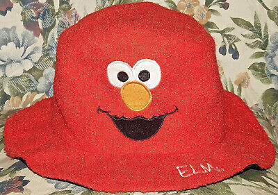 LARGE ONE-SIZE-FITS-ALL ELMO MUPPET SESAME STREET LIVE HAT COSTUME PLUSH
