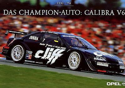 Opel Motorsport Karte Opel Calibra V6 ITC 1996 Rennsport card race car Rennwagen