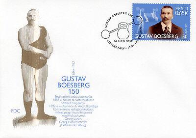 Estonia 2017 FDC Gustav Boesberg Founder Heavy Athletics 1v Cover Sports Stamps