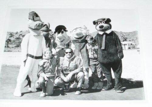 Vintage Photo of Flintstones & Yogi Bear Trailer Park Mascot costumes
