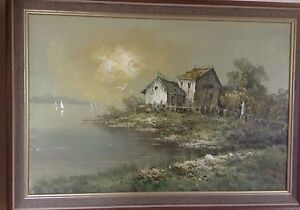 Original signed oil painting from 1970's