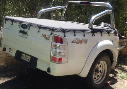 Back Ute Trailer with toolbox and a spare tyre, white The Gap Brisbane North West Preview