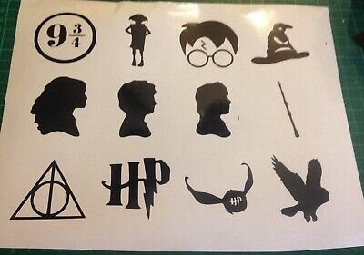 12 x harry potter wine glass, party Vinyl Decal sticker stickers wall decal