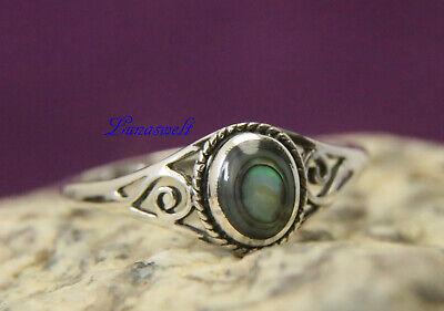Zarter Ring ~ LUCY ~  Seeopal mit Lebens Spiralen Silber 925  Opale Spiral