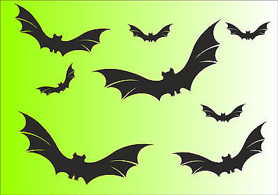 Fledermaus Aufkleber  8 Stück Sticker Aufkleber Fensterbild Halloween    (Halloween Fenster Aufkleber)
