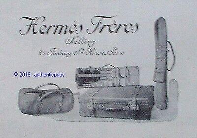 PUBLICITE HERMES SELLIER SAC DE VOYAGE MAROQUINERIE GOLF DE 1924 FRENCH AD PUB