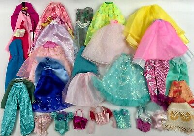 Lot Barbie Clothes Princess & Party Skirts Capes Tops Mermaid Tails