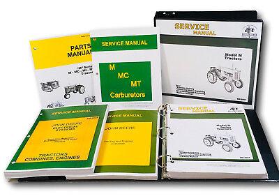 Service Parts Manual Set For John Deere M Series Tractor Catalog Shop