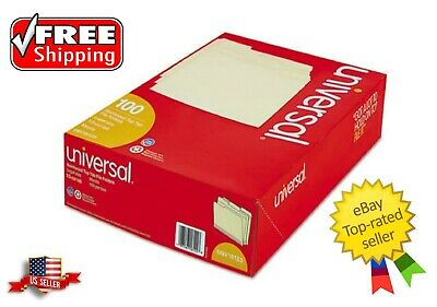 Universal 1/3 Assorted Cut Legal Size File Folders Top Tab Manila - 100 - Cut Legal Manila File