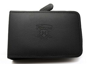 Leather Travel Pouch Case For Shaving Brush, Razor & Blades Packs Universal Size