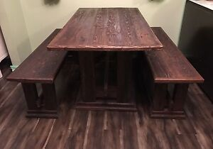 Rustic Table & Benches