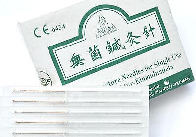 100 sterile Akupunkturnadeln mit Silberwendelgriff, einzeln verpackt