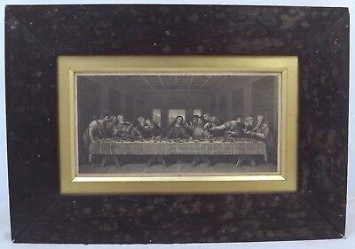 Antique Framed C19th Engraving Leonardo da Vinci 'The Last Supper'