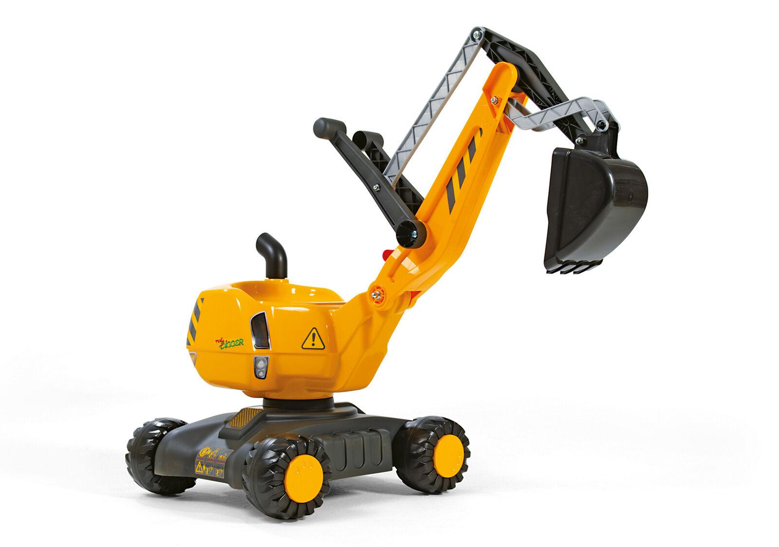 Rolly Toys Kinderbagger Rolly Digger Sitzbagger mit Räder