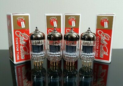 6 E88CC Tubes Brand New Matched Sextet Genalex Gold Pin Lion Reissue 6922