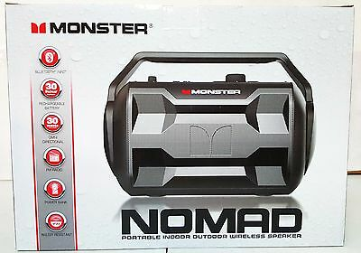 New Monster Nomad Bluetooth Wireless Portable Audio System Speaker Black