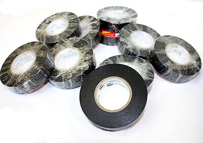 10 Rolls 60 Ft 34 X 7mil General Vinyl Pvc Black Insulated Ul Electrical Tape