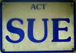 SUE (personalised number plate) Queanbeyan Queanbeyan Area Preview