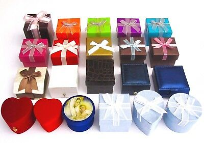 Stylish n Colorful Jewelry Gift Boxes/Ring/Earring/Red Heart Blue/Green/Bow (Bow Ring Jewellery Box)