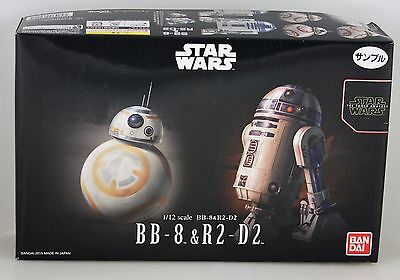 Bandai Star Wars 1 12 Bb 8   R2 D2 Model Kit