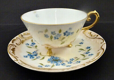 Flintridge Rosebud Demitasse Porcelain Teacup and Saucer Flintridge Replacement Rosebud Footed Demitasse Cup and Saucer