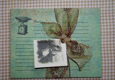 RECIPE CARDS Vintage Kitchen Images  K & P Co Scrapbook card stock SET OF 16