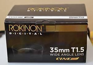 Rokinon 35mm T1.5 lens for Nikon DS LR (as new) Rosebery Inner Sydney Preview