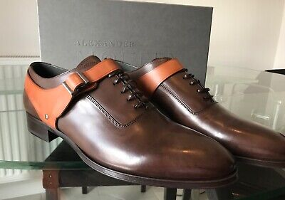 Alexander McQueen Men's Brown Harness Oxford Shoes Size 11 45 - New Boxed 10.5