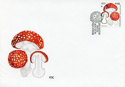 Estonia 2016 FDC Mushrooms Fly Agaric 1v Set Cover Fungi Stamps