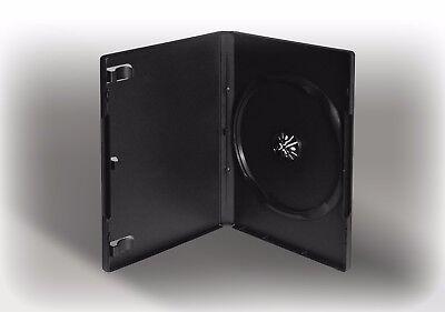 100x DVD Box, Leer-Hüllen, schwarz für 1 CD/DVD/Blu-Ray mit Booklethalterung