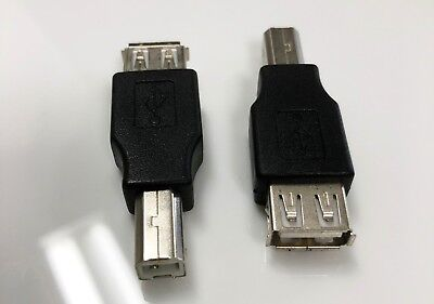 USB Type A Female to USB Type B Male Printer Adapter Converter