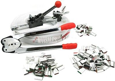 New Poly 690 Ft Strap 400 Steel Seals Tools Strapping Tool Kit