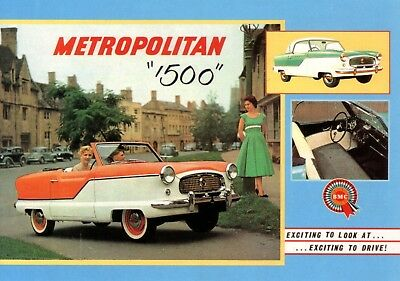 Austin Nash Metropolitan 1500 1956 Car Jumbo Fridge Magnet
