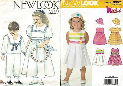 Childs' ½-6 SAILOR SUIT, DRESSES, HAT Pattern UNCUT NEW LOOK 6269 or 6957 UNCUT (Childrens Sailor Suits)
