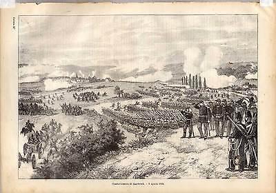 Saarbrücken-Militaria Lithographie 1870