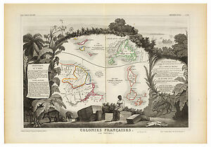 French-West-Indies-Saint-Martin-Guiana-illustrated-map-Levasseur-ca-1856